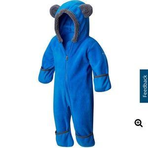 Columbia blue fleece bunting suit 0-3 M